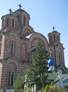 Two orthodox churches serbian and russian churches in belgrade serbia september st mark s church or church of st mark is Stock Image