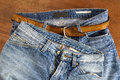 Two pair of blue jeans Royalty Free Stock Photo