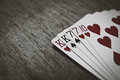 TWO-PAIR Poker Hands Royalty Free Stock Photo