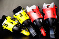 Two pairs of roller skates Royalty Free Stock Photo