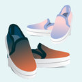 Two pairs of sneakers Royalty Free Stock Photo