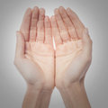 Two palms of the hand Royalty Free Stock Photo