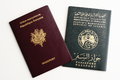 Two passports isolated Royalty Free Stock Photos