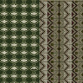 Two patterns tratitional knitted Stock Photo