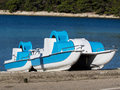 Two pedal boats Royalty Free Stock Photo
