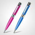Two pens vector illustration of Royalty Free Stock Photo