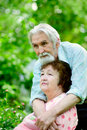 Two pensioners Royalty Free Stock Photography