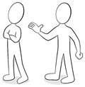 Two people are of different opinion vector illustration Stock Images