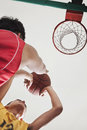 Two people playing basketball, blocking Royalty Free Stock Photo