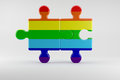Two Pieces of Puzzle as Symbol for the Rights of Gay People
