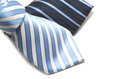 Two pin stripe ties on white background Stock Images