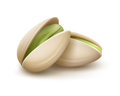 Two pistachio nuts