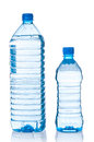 Two plastic bottles of water Royalty Free Stock Photo