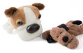 Two Plush Dogs Side by Side Stock Images