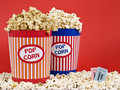 Two popcorn buckets Stock Image