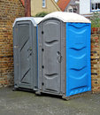 Two portaloos Stock Photos