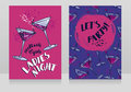 Two posters for ladies night party Royalty Free Stock Photo
