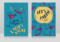 Two posters for ladies night party