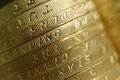 English Money Coins Closeup Royalty Free Stock Photo