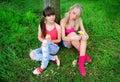 Two pretty girls Stock Photo