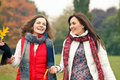 Two pretty girls in the park Royalty Free Stock Image