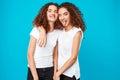 Two Pretty Girls Twins Smiling...