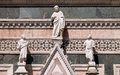 Two Prophets and the Redeemer, Portal on the side-wall of Florence Cathedral Royalty Free Stock Photo