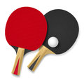 Two rackets playing table tennis illustration white background Stock Photo