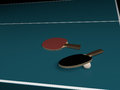 Two rackets red black table tennis any brand Royalty Free Stock Photos