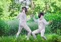 Two Rapier Fencer Women Fighti...