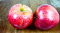 Two red apples Royalty Free Stock Photo