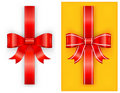 Two red bow Stock Photos