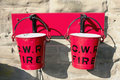 Two Red Fire Buckets Royalty Free Stock Image
