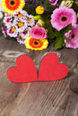 Two red Hearts Stock Photos