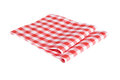 Two red table napkins Royalty Free Stock Photo