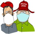 Two rednecks wearing surgical masks Royalty Free Stock Photo