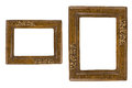Two Retro photo frames Royalty Free Stock Photo