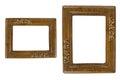 Two Retro photo frames Royalty Free Stock Photo