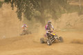 Two riders in a quad race Royalty Free Stock Photos