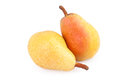 Two Ripe Pears  isolated on white Royalty Free Stock Photo