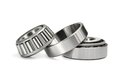 Two roller bearings on a white background Royalty Free Stock Photography