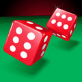 Two Rolling Dice Stock Image