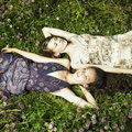 Two romantic girl Royalty Free Stock Images