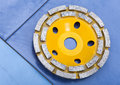 Two-row Diamond disk for a concrete abrasion Royalty Free Stock Images