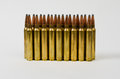 Two Rows of Bullets Royalty Free Stock Photo
