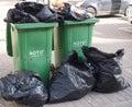 Two rubbish bins Royalty Free Stock Photo