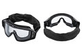 Two safety glasses, white background Royalty Free Stock Photo