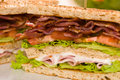 Two sandwich beautiful close-up shoot Royalty Free Stock Photos