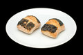 Two sandwich buns with poppy Royalty Free Stock Photo