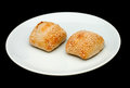 Two sandwich buns with sesame Royalty Free Stock Photo